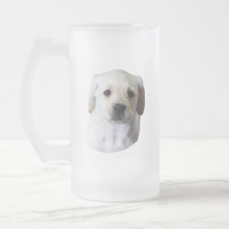 Young Lovely Lab Frosted Glass Beer Mug