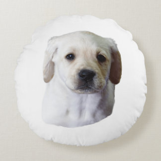 Young Lovely Lab Round Pillow
