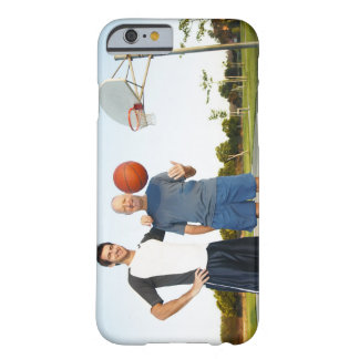 Young man and senior man on outdoor basketball barely there iPhone 6 case