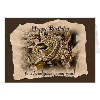 Young Man Birthday - Eastern Garter Snake Card