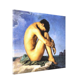 Young Man by the Sea Canvas Print