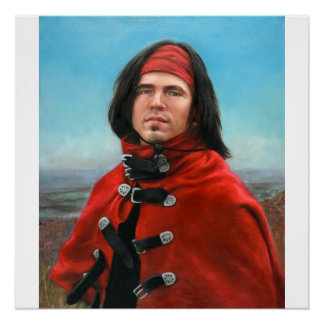 Young Man in a Red Cape by Julia Morgan Scott Perfect Poster