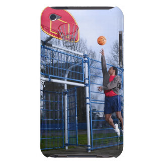 Young man playing basketball outdoors iPod touch Case-Mate case