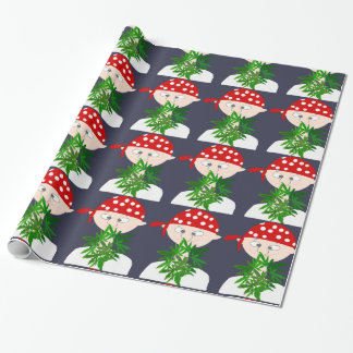 Young Man with Weed Bouquet Personalized Wrapping Paper
