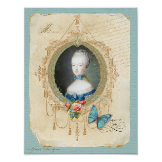 Young Marie Antoinette Art Print Vintage Style