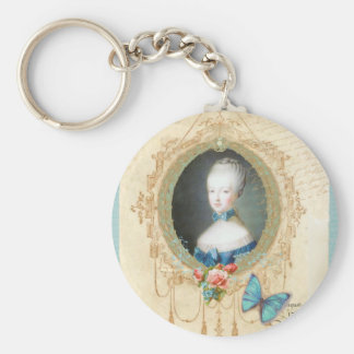 Young Marie Antoinette Butterfly Art Print Key Chain