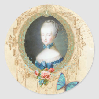 Young Marie Antoinette Ornate Sticker
