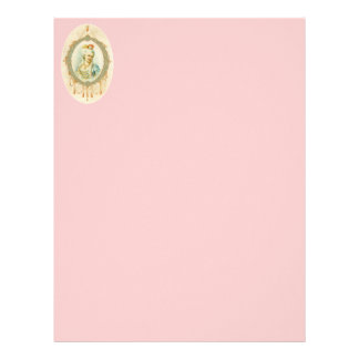Young Marie Antoinette Portrait Stationery Customized Letterhead