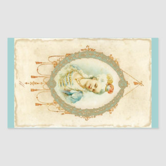 Young Marie Antoinette Portrait Stickers Tags