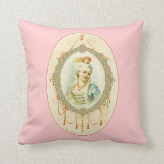 Young Marie Antoinette Portrait Throw Pillow