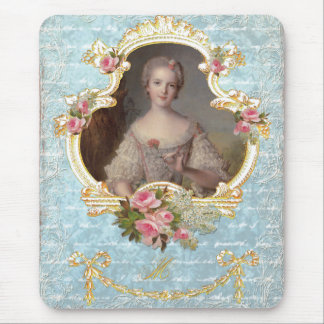 Young Marie Antoinette with Pink Roses Mouse Pad