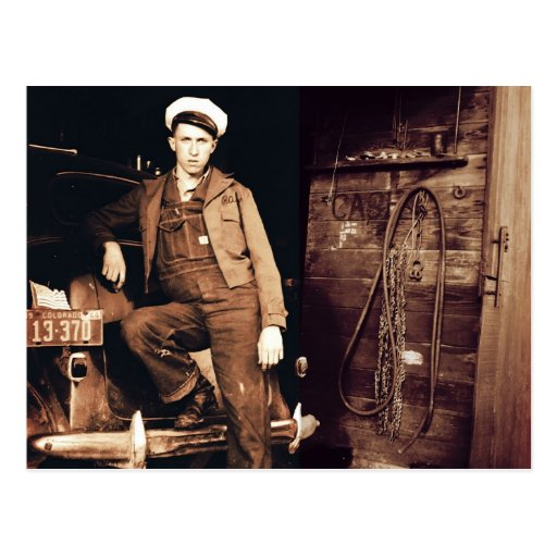 Young Mechanic Vintage Photo Post Card