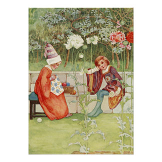 Young Medieval Couple by Millicent Sowerby Poster