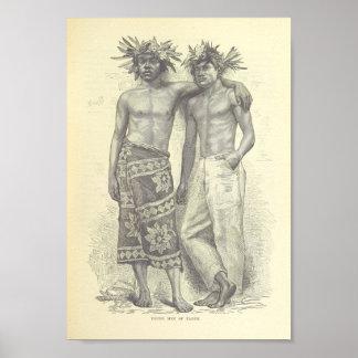 Young Men of Tahiti Poster