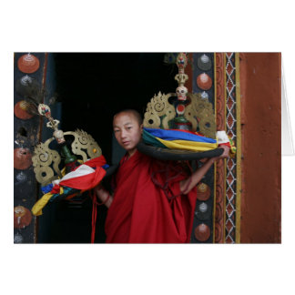 Young Monk with Black Hats Card