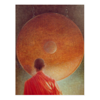 Young Monk with Gong Postcard