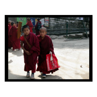 Young Monks, Dharamsala, India Postcard
