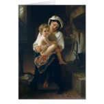 Young Mother Gazing at Her Child - Bouguereau Cards