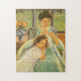 Young Mother Sewing by Mary Cassatt, Vintage Art Puzzles