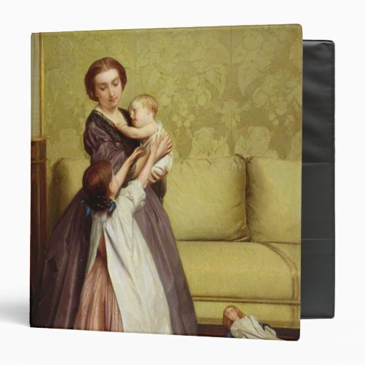 Young Mother with her Children in a Salon 3 Ring Binder