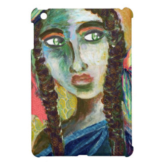 Young Native American Woman with Feathers Case For The iPad Mini