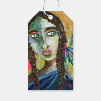 Young Native American Woman with Feathers Pack Of Gift Tags