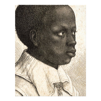 Young Negro by Wenceslaus Hollar Personalized Letterhead