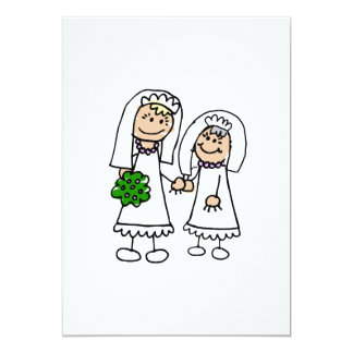 Young & Old Brides 5x7 Paper Invitation Card