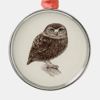 Young Owl Premium Ornament