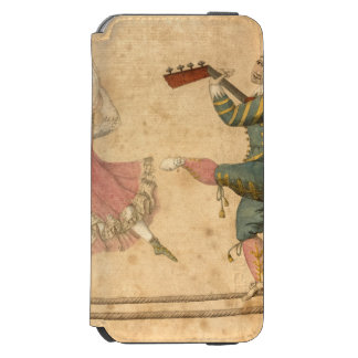 Young People Dancing and Singing, vintage drawing Incipio Watson™ iPhone 6 Wallet Case