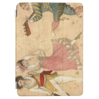 Young People Dancing and Singing, vintage drawing iPad Air Cover