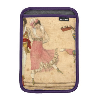 Young People Dancing and Singing, vintage drawing iPad Mini Sleeve