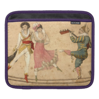 Young People Dancing and Singing, vintage drawing iPad Sleeves
