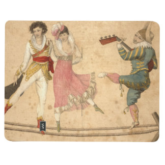 Young People Dancing and Singing, vintage drawing Journal