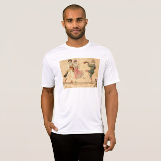 Young People Dancing and Singing, vintage drawing T-Shirt