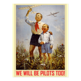 Young Pilots Postcard