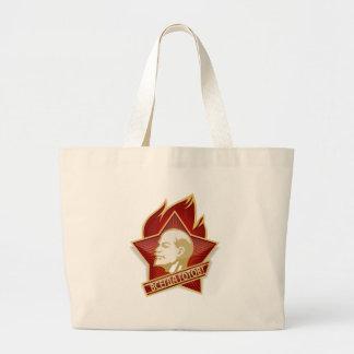 Young Pioneers Lenin Ленин Communist Soviet Union Large Tote Bag