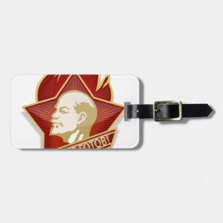 Young Pioneers Lenin Ленин Communist Soviet Union Luggage Tag