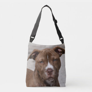 Young Pit Bull Puppy Crossbody Bag