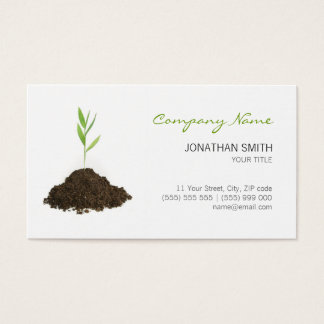 Young Plant Green business card