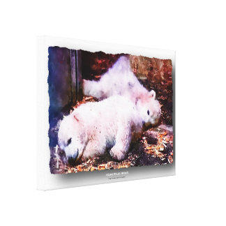 YOUNG POLAR BEARS - Artwork Jean Louis Glineur Canvas Print