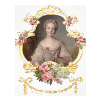 Young Queen Marie Antoinette Pink Roses Cards Flyer