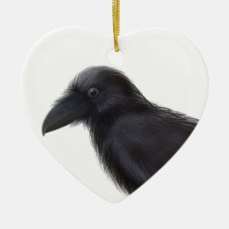 Young Raven Ceramic Ornament
