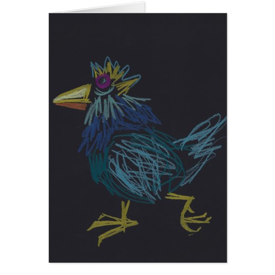 Young Rooster for Chinese New Year or Birthday Card
