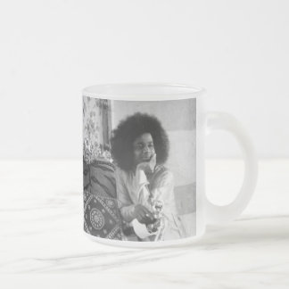 Young Sathya Sai Baba in Old Mandir Frosted Glass Coffee Mug