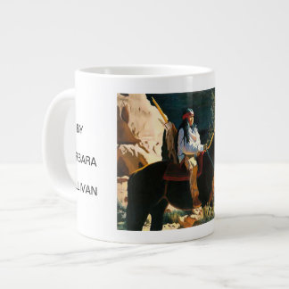 YOUNG SENTRY BY BARBARA SULLIVAN LARGE COFFEE MUG