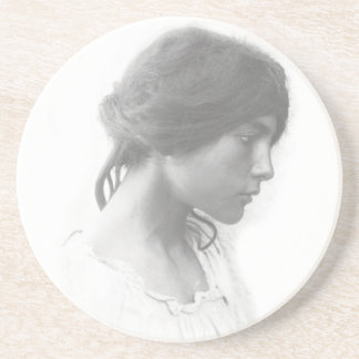 Young Sicily Woman Coaster