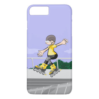 Young skate on wheels dancing in the incline iPhone 8 plus/7 plus case