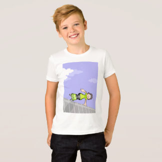 Young skate on wheels is maintained to jump T-Shirt