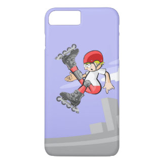 Young skate on wheels jumping by far style iPhone 8 plus/7 plus case